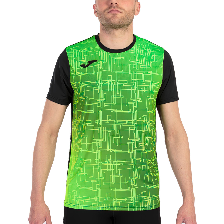 Joma Elite VIII Camiseta - Black/Green Fluor