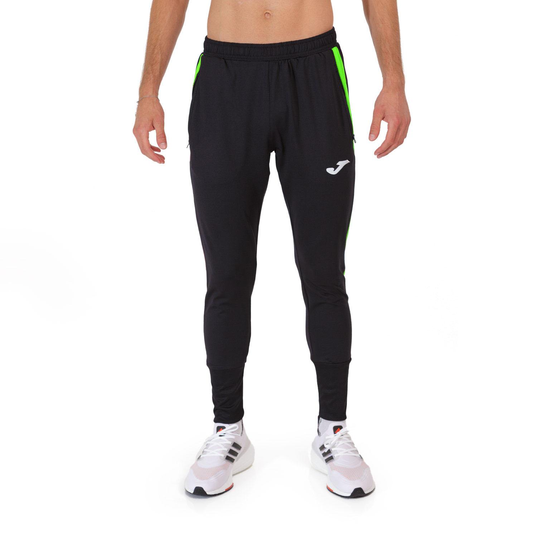 Joma Elite VIII Pantalones - Black/Green Fluor