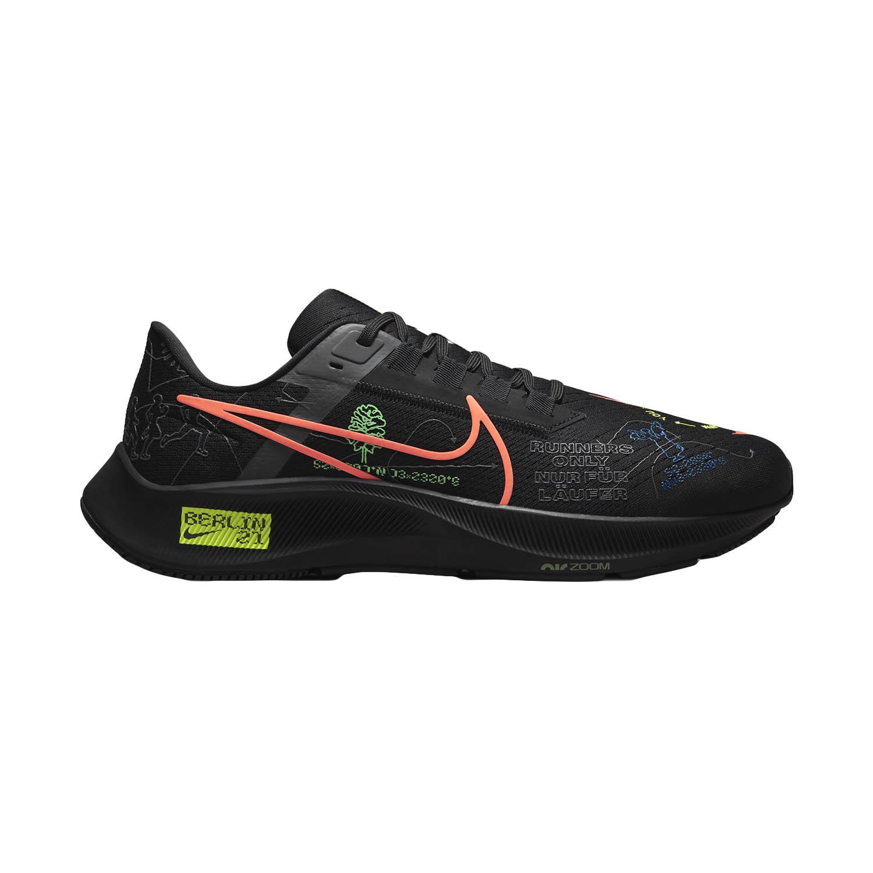 Nike Air Zoom Pegasus 38 - Black/Hyper Orange/Electro Green