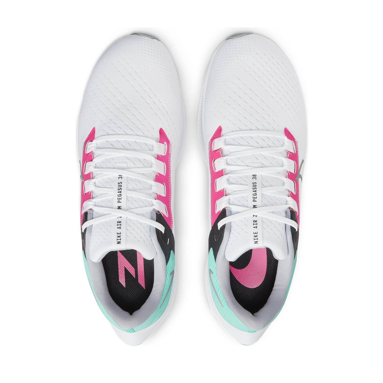 Nike Air Zoom Pegasus 38 - White/Wolf Grey/Hyper Pink/Dynamic Turquoise