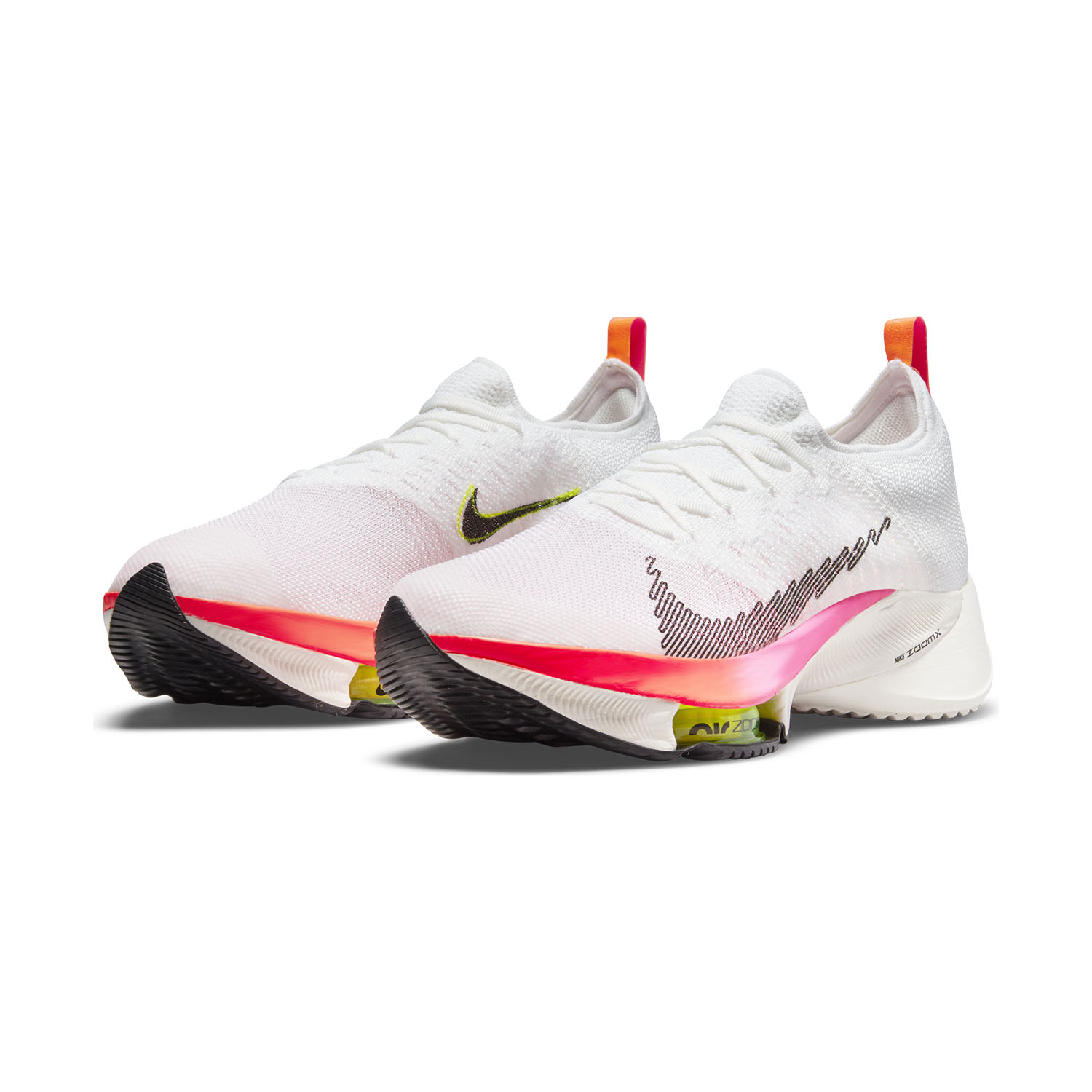 Nike Air Zoom Tempo Next% - White/Black/Washed Coral/Pink Blast