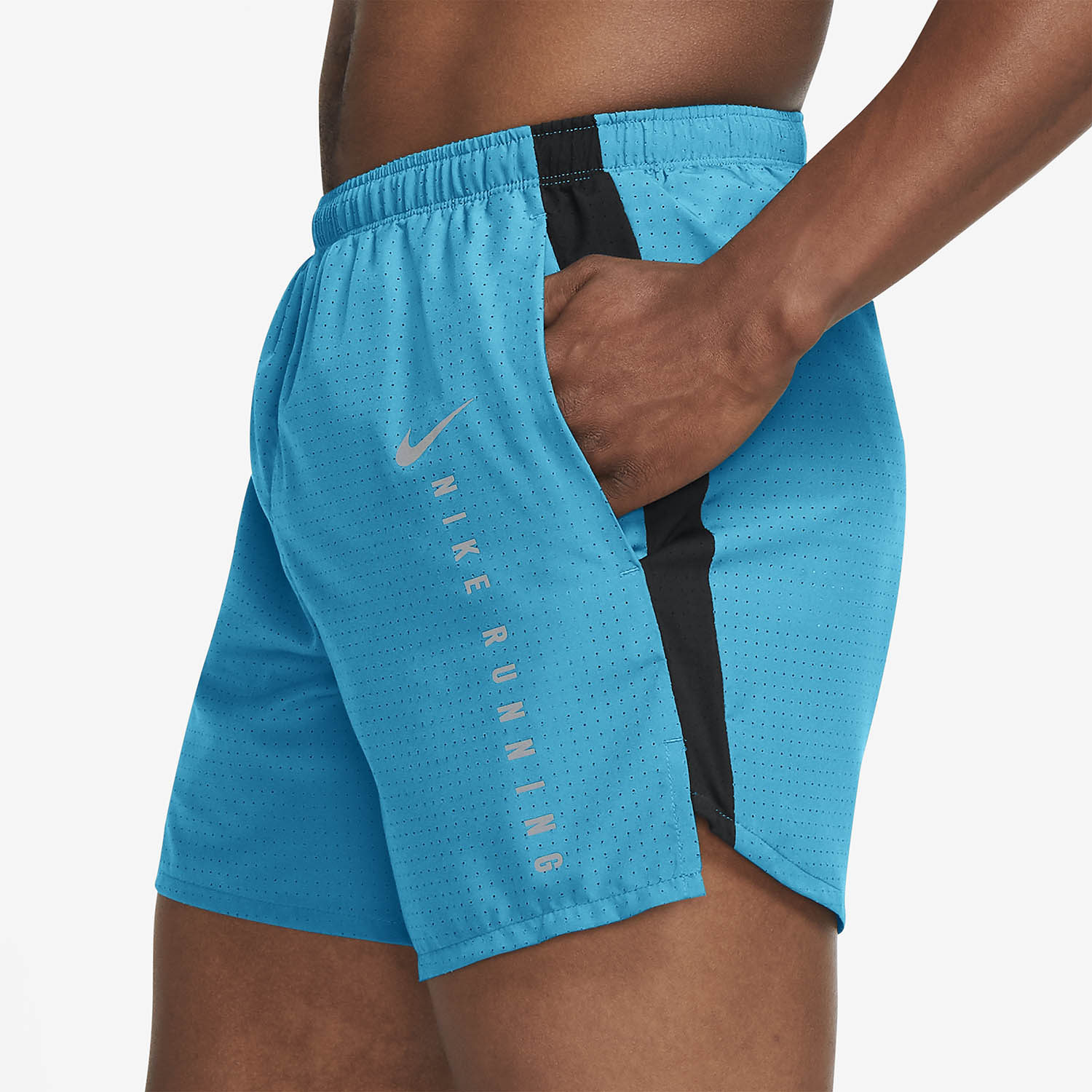 Nike Brief Lined 5in Shorts - Chlorine Blue/Black/Reflective Silver