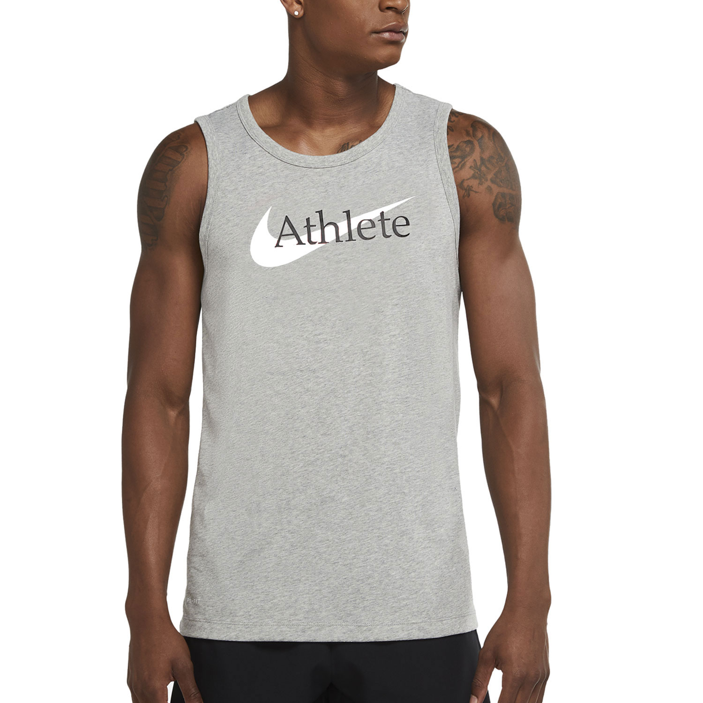Nike Dri-FIT Athlete Top - Dark Grey Heather