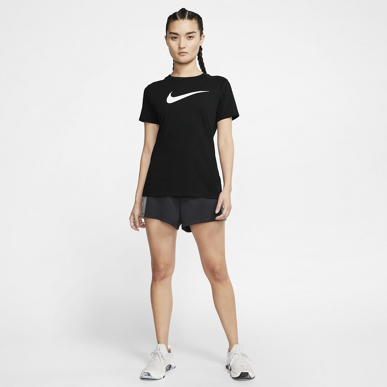 Nike Dry Crew T-Shirt - Black/Heater/White