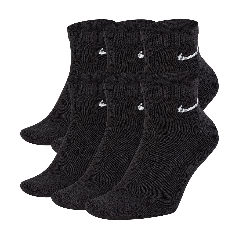Nike Everyday Cushion x 6 Socks - Black/White