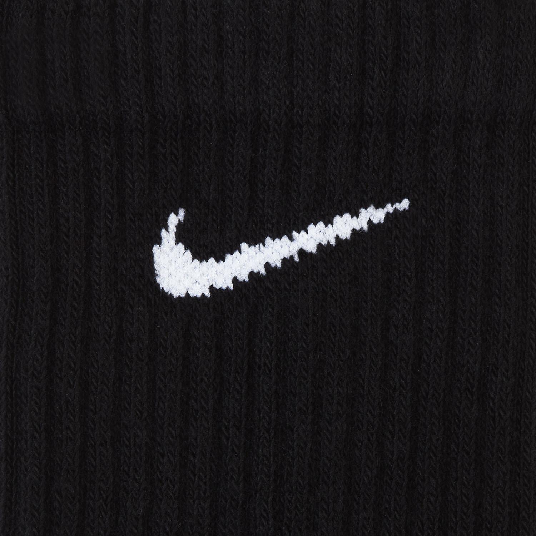 Nike Everyday Cushioned Crew X 3 Socks - Black/White