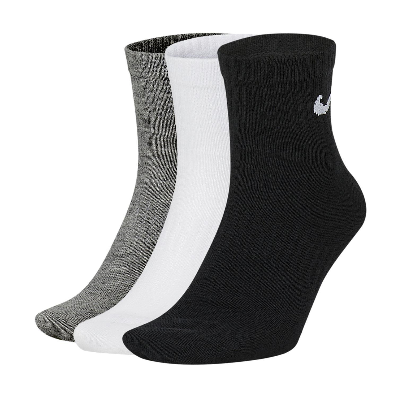 Nike Everyday Lightweight x 3 Socks - White/Black/Dark Grey