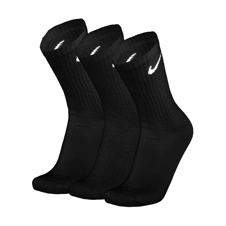 Nike Everyday Lightweight Crew x 3 Socks - Black/White