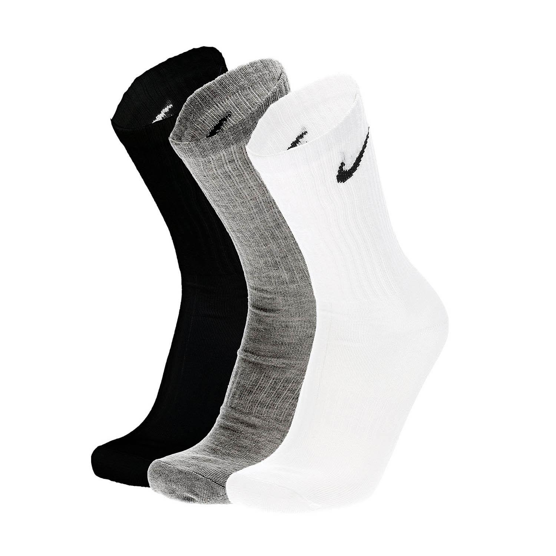 Nike Everyday Lightweight Crew x 3 Socks - White/Black/Dark Grey