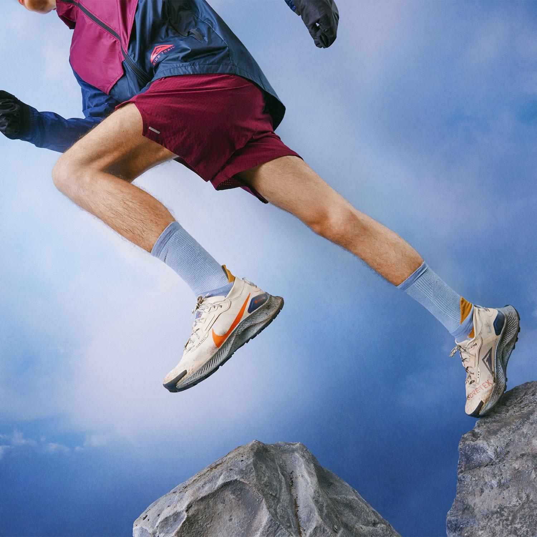 Nike Pegasus Trail 3 GTX - Rattan/Campfire Orange/Thunder Blue