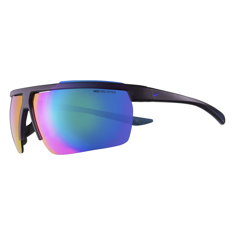 Nike Windshield Sunglasses - Matte Grand Purple/Grey W/Turquoise Mirror Lens