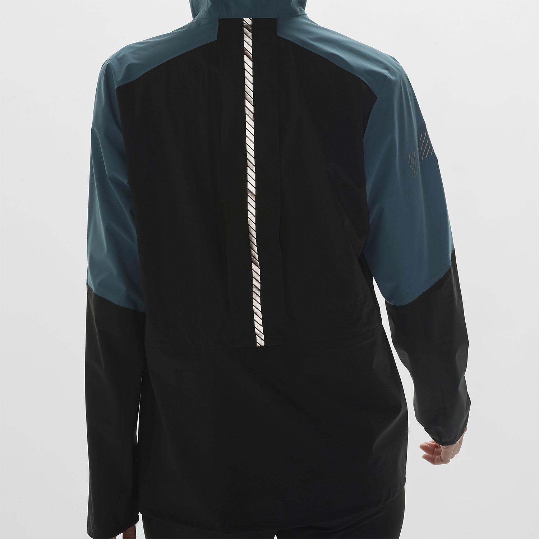 Salomon Bonatti Trail WP Jacket - Black/Mallard Blue/Sirocco