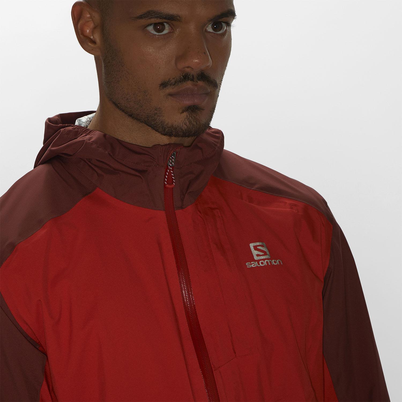 Salomon Bonatti WP Jacket - Goji Berry/Madder Brown