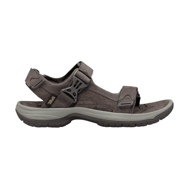 Teva Tanway Leather Sandals - Chocolate Brown