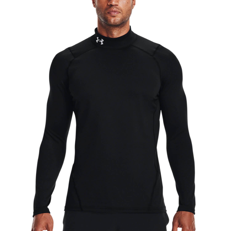 Under Armour ColdGear Logo Shirt - Black/White