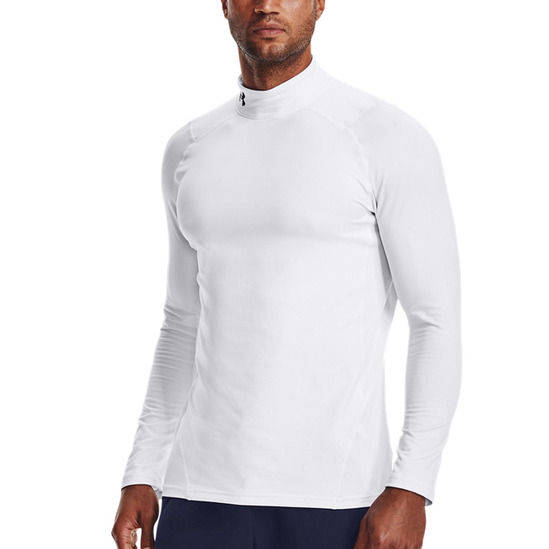 Under Armour ColdGear Logo Shirt - White/Black
