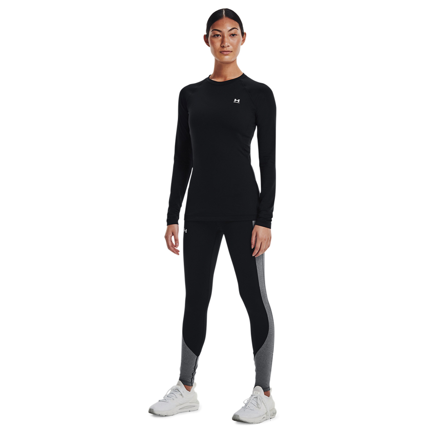 Under Armour Cozy Blocked Tights - Black/White