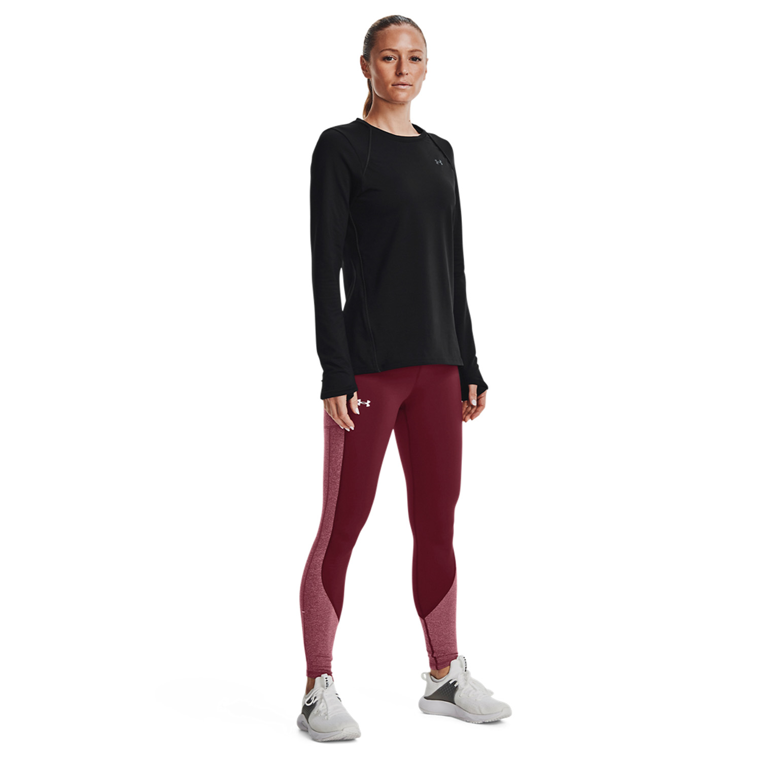 Under Armour Cozy Blocked Tights - League Red/White