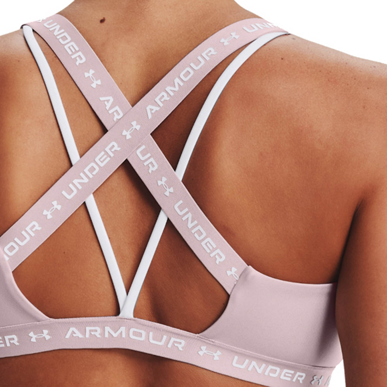 Under Armour Crossback Low Sports Bra - Dash Pink/White