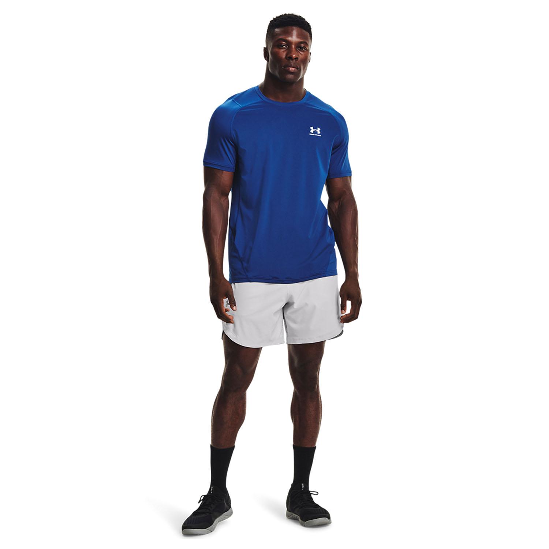 Under Armour HeatGear Knit T-Shirt - Tech Blue/Black