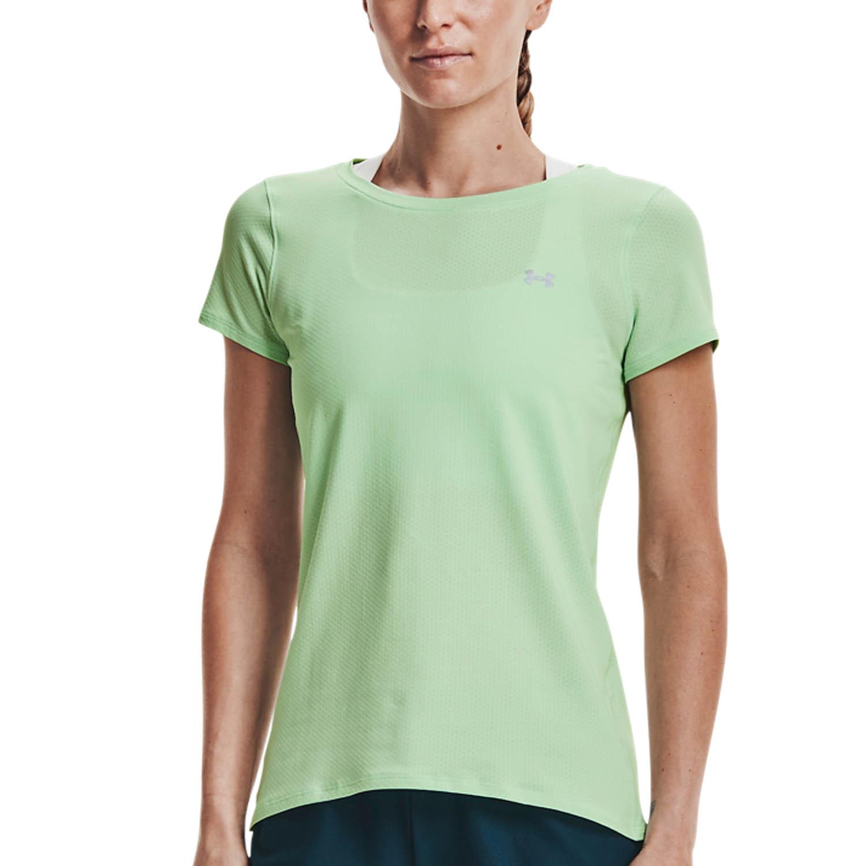 Under Armour HeatGear T-Shirt - Aqua Foam/Metallic Silver