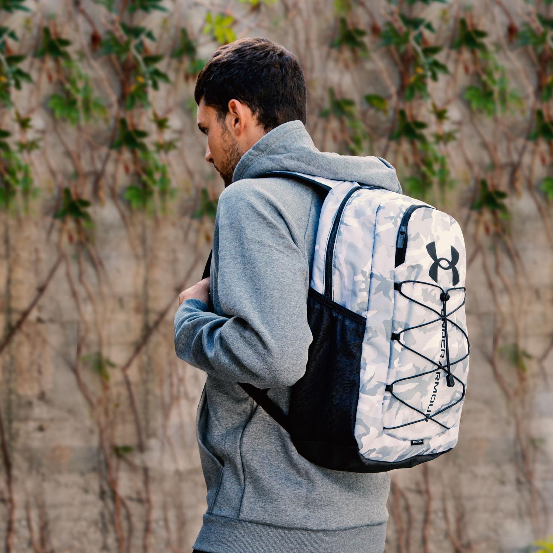 Under Armour Hustle Sport Backpack - White/Black