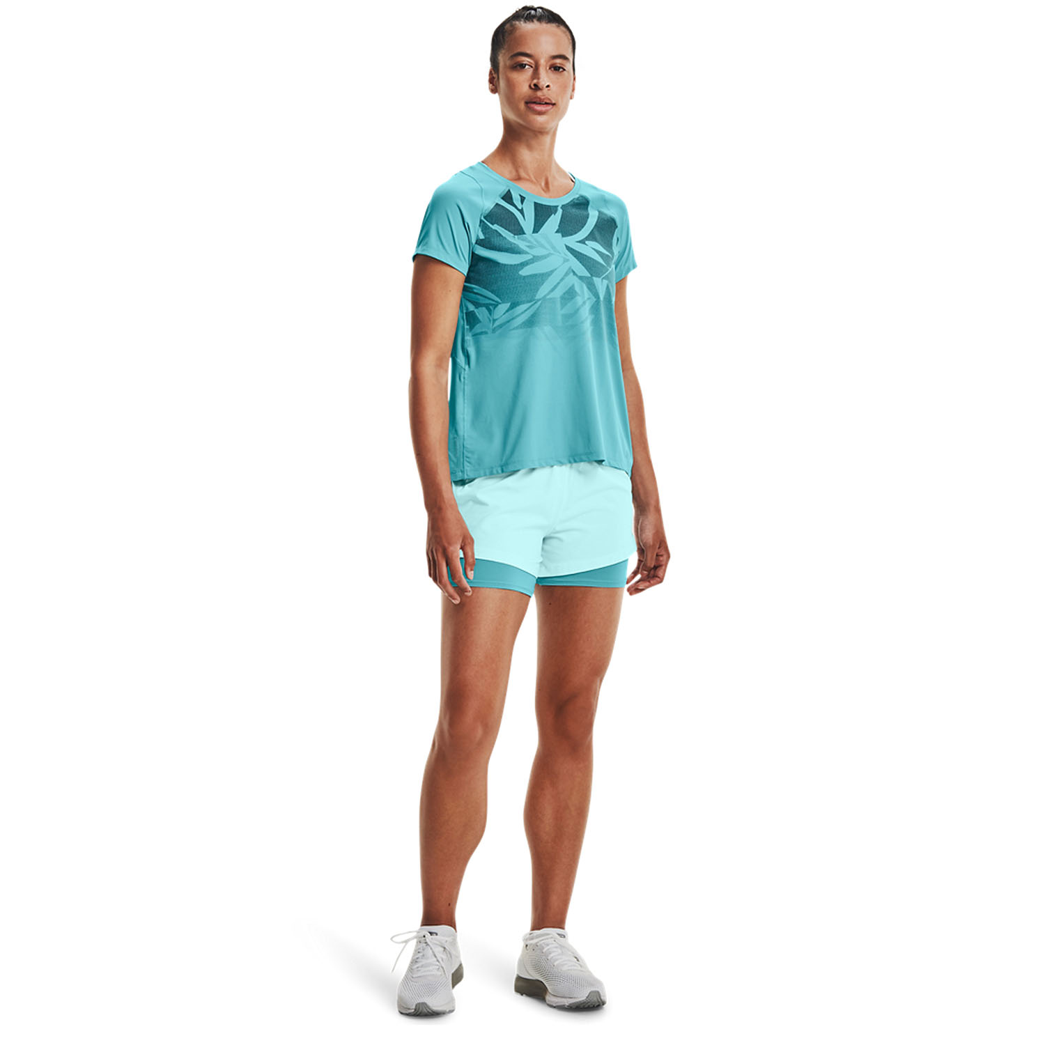 Under Armour IsoChill 2 in 1 3in Shorts - Breeze/Cosmos/Reflective