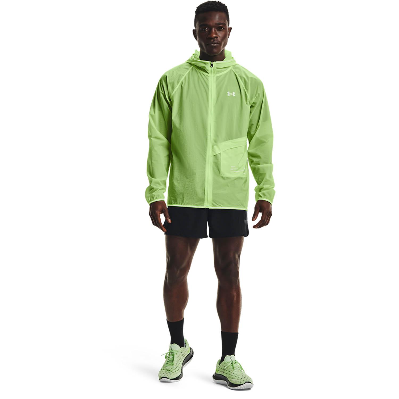 Under Armour Qualifier Storm Packable Jacket - Summer Lime/Hyper Green/Reflective