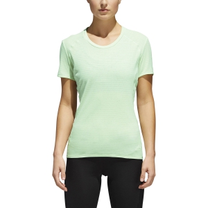 Maglietta Running Donna Adidas Supernova 37C TShirt  Light Green CG1082