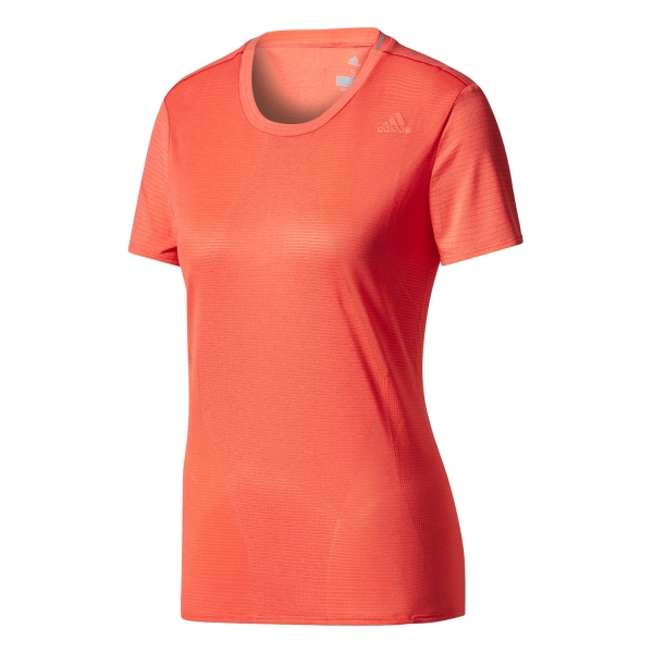 Adidas supernova women 39 s running t shirt coral for Coral t shirt womens