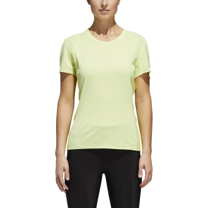 Women's Running T-Shirts Adidas Supernova 37C TShirt  Lime CG1084