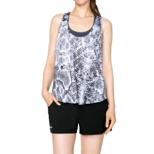 Women's Fitness & Training Tank Desigual Wild Tank  White/Black 71T2SE01000