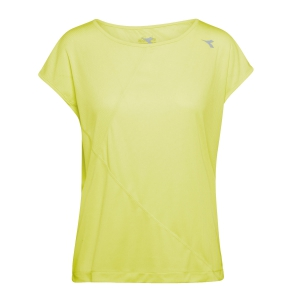 Women's Running T-Shirts Diadora Bright TShirt  Yellow/Multicolor 10217284970321