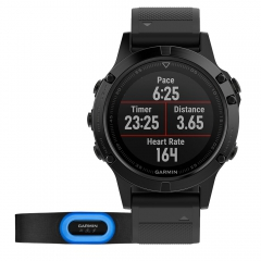 Sport Watch Garmin Fenix 5 Sapphire Performer Bundle  Black/Black 0100168832