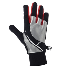 Running gloves Joma Reflective Running Gloves  Black/Red/Silver 400253.100