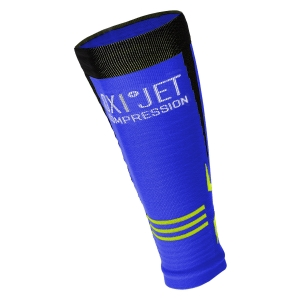 Mico Oxi-Jet Compression Calf Sleeve - Blue/Black