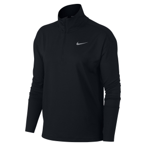 Maglia Running Donna Nike Element Half Zip Shirt  Black AA4631010