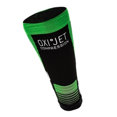 Mico Oxi-Jet Compression Calf Sleeve - Black/Green