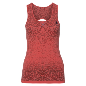 Women's Running Tank Top Odlo Blackcomb Tank  Coral 31240130388