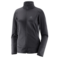 Women's Outdoor Jacket and Shirt Salomon Discovery Full Zip Jacket  Black L39768000