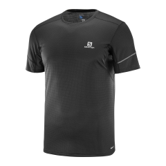 Men's Running T-Shirt Salomon Agile SS Tee TShirt  Black L40209900