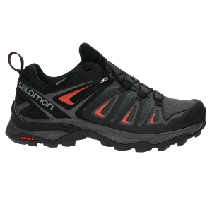 Women's Outdoor Shoes Salomon X Ultra 3 GTX  Black/Grey/Red L39868500