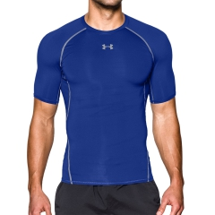 Men's Running T-Shirt Under Armour HeatGear Compression TShirt  Light Blue/Grey 12574680400