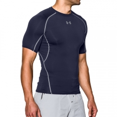 Men's Running T-Shirt Under Armour HeatGear Compression TShirt  Navy/Grey 12574680410