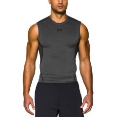 Men's Running Sleeveless Under Armour HeatGear Compression Singlet  Dark Grey/Black 12574690090