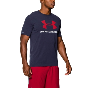 Men's Running T-Shirt Under Armour Sportstyle Logo TShirt  Navy/Red 1257615410