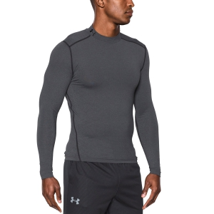 Men's Running Shirt Under Armour ColdGear Compression Mock Shirt  Grey/Black 12656480090