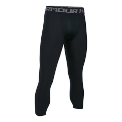Men's Running Tights Under Armour HeatGear Compression 3/4 Leggings  Black/Grey 12895740001