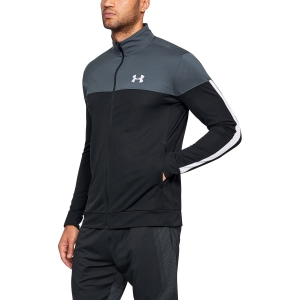 Men`s Sportswear Jacket Under Armour Sportstyle Pique Jacket  Black/Grey 13132040008