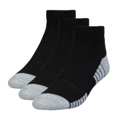 Running Socks Under Armour HeatGear Tech LowCut Socks x 3  Black 13124300001